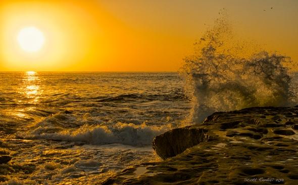 "The ""golden hour"" seaside in nearby Ocean Beach California"