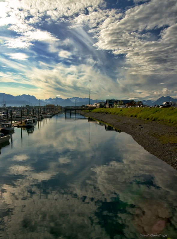 Homer Harbor reflections