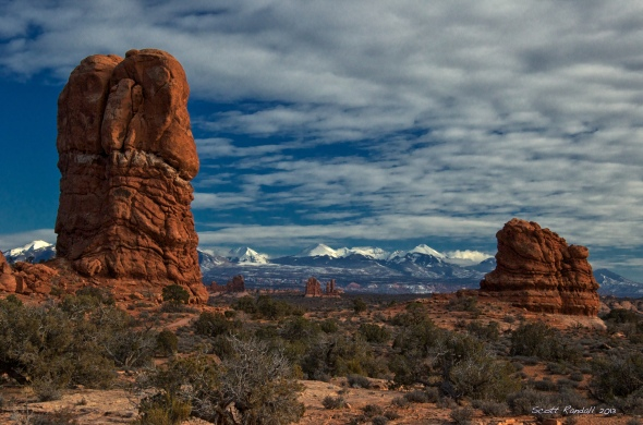Red Rocks at Sunset in Arches National Park