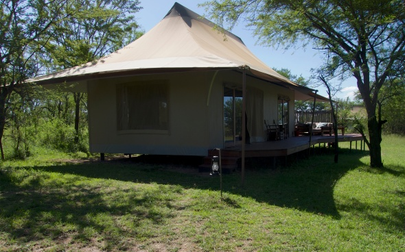 Roughing it in the Serengeti....
