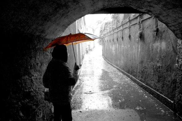 Rainy Rapallo Italy